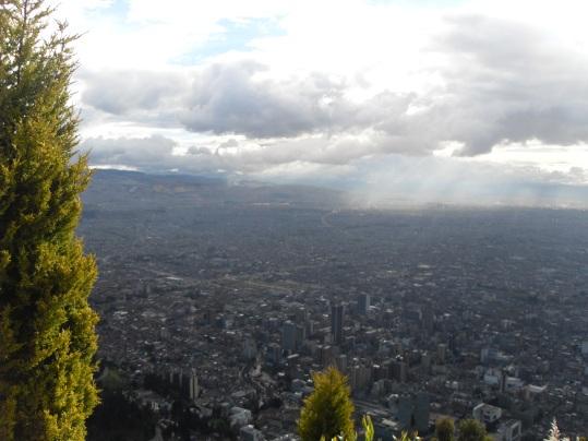 Imagen obtenida desde el cerro de Monserrate.